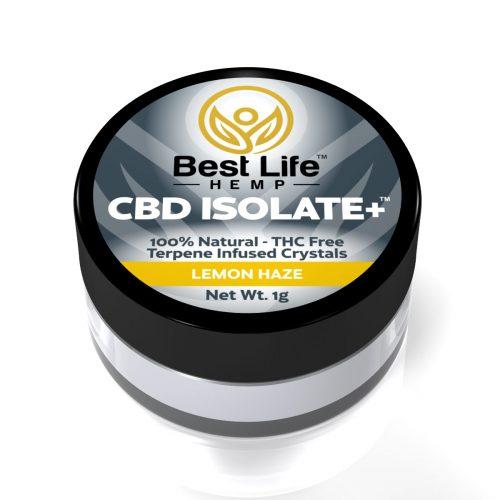Best Life Hemp CBD Isolate Plus Lemon Haze Terpenes Lab Tested 99 Pure