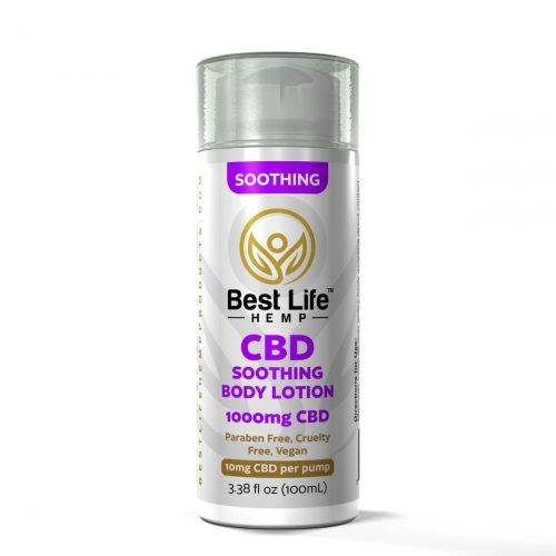 Buy CBD Oil Online Best Life Hemp Soothing Body Lotion 1000mg front
