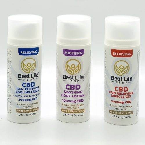 Best Life Hemp Topical 3 Pack